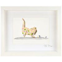 Short Story: Rainbow Cat - Small Frame (White)