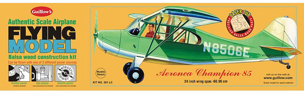 Aeronca Champion 85 1:18 Balsa Model Kit
