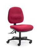 CS Alpha 2 Lever Mid Back Task Chair - Scarlet