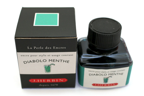 J Herbin: Fountain Pen Ink - Diabolo Menthe (30ml)