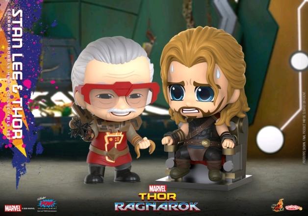 Thor: Ragnarok - Thor & Stan Lee - Cosbaby Figure Set