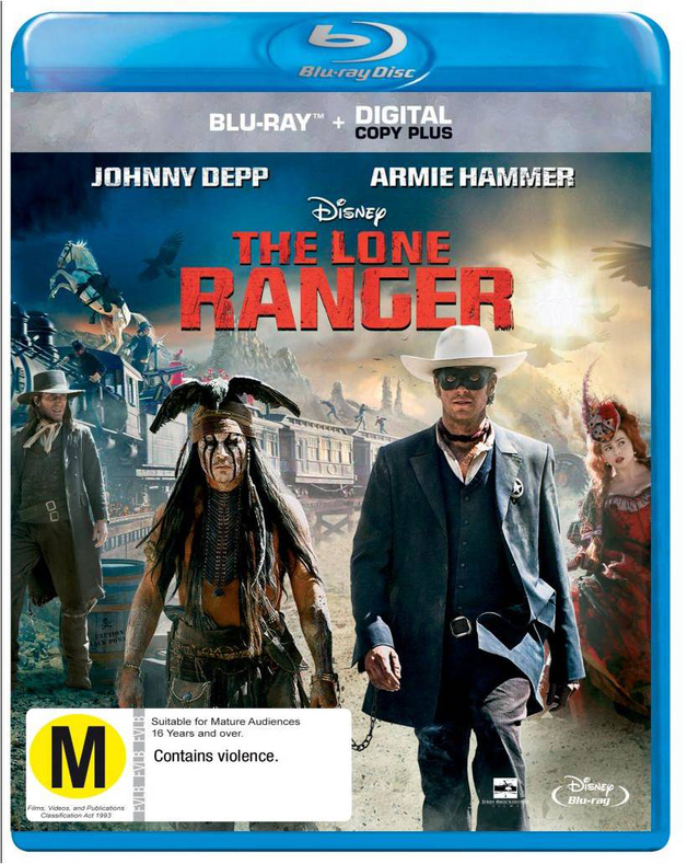 The Lone Ranger on Blu-ray, DC+