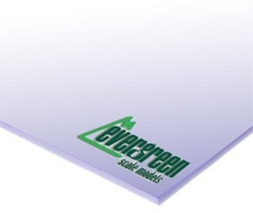 Evergreen Styrene Clear Sheet 0.38mm (2pk)