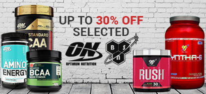 Up to 30% off Selected Optimum Nutrition & BSN!