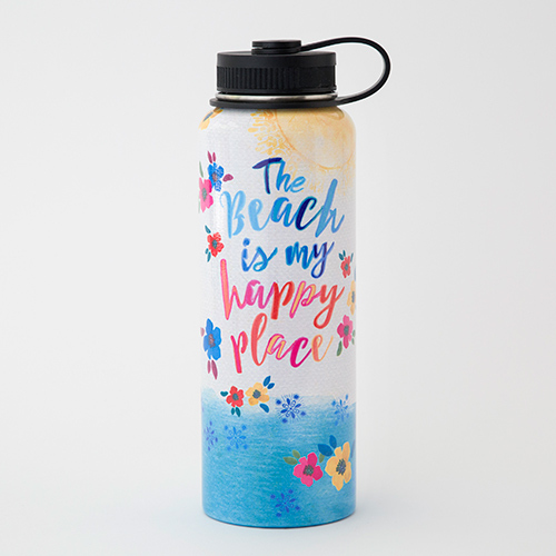 Natural Life: Stainless Steel Water Bottle/Flask - Large Beach