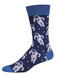 Men's Astronaut Crew Socks - Navy