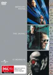 Jackal/12 Monkeys/Mercury Rising - 3 DVD Collection (3 Disc Set) on DVD