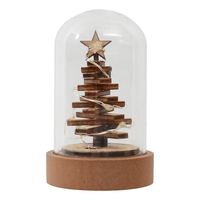Mini Glass Dome with LED Lights - Tree
