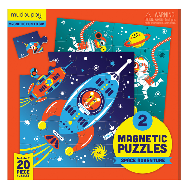 Mudpuppy: Outer space - Magnetic Puzzle