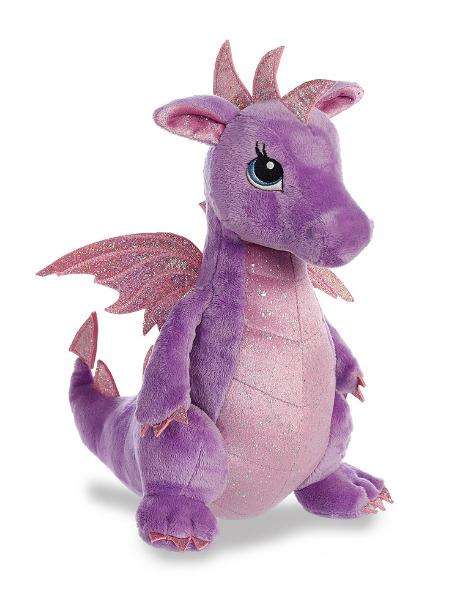 "Aurora: Larkspur Purple Dragon - 12"" Plush"