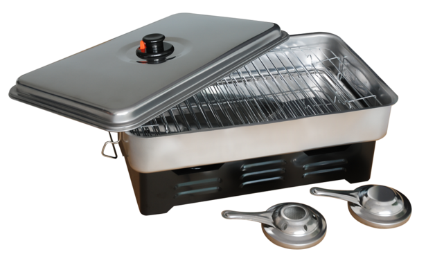 Premium Portable Stainless Steel Cooker & Smoker