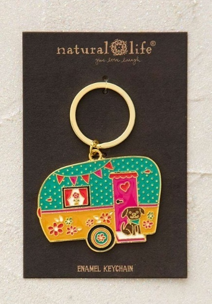 Natural Life: Enamel Keychain - Camper