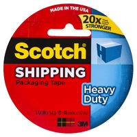 Scotch Heavy Duty Shipping Packaging Tape - Clear (48mm x 50m)