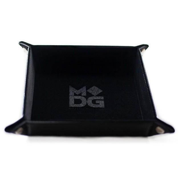 Velvet Folding Dice Tray: - Black (10x10)
