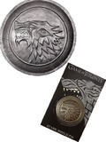 Game of Thrones Prop Replica Pin - Stark Direwolf Shield