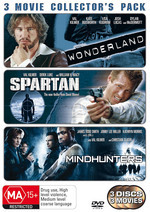 Wonderland / Spartan / Mindhunters - 3 Movie Collector's Pack (3 Disc Set) on DVD
