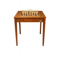 Dal Rossi Chess Table with Staunton Chess Pieces