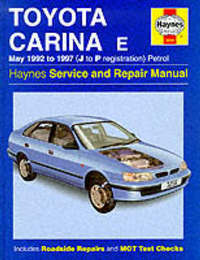 Toyota Carina E Service and Repair Manual by John S. Mead image