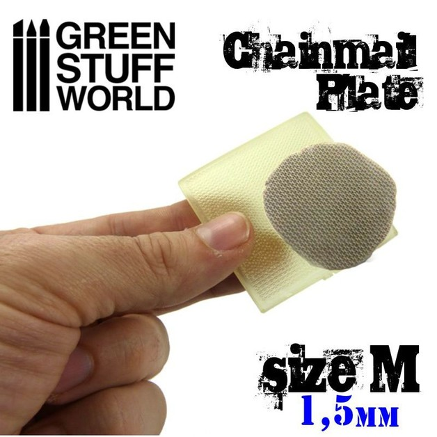 Green Stuff World : ChainMail Texture Plate (Size M)