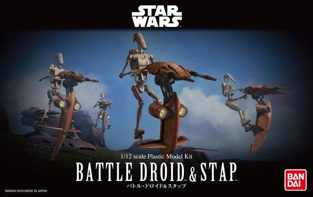 Star Wars 1/12 BATTLE DROID & STAP - Scale Model Kit