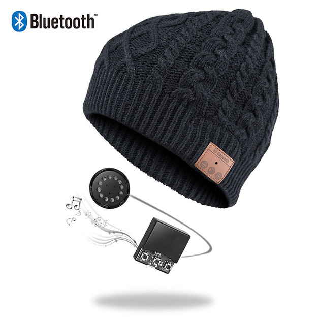 Ape Basics: Wireless Bluetooth Music Beanie Hat - Black