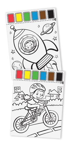 Melissa & Doug: Paint with Water Art Pad Vehicles