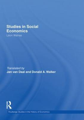 Studies in Social Economics by Leon Walras image