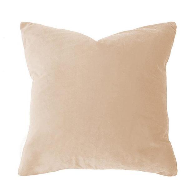 Bambury: Velvet Feather Filled Cushion - Nude (50 x 50cm)