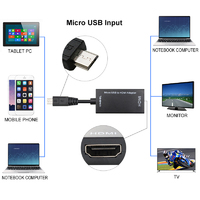Micro USB to HDMI HDTV Adapter