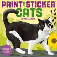 2020 Paint by Sticker Cats Wall Calendar by Workman Publishing