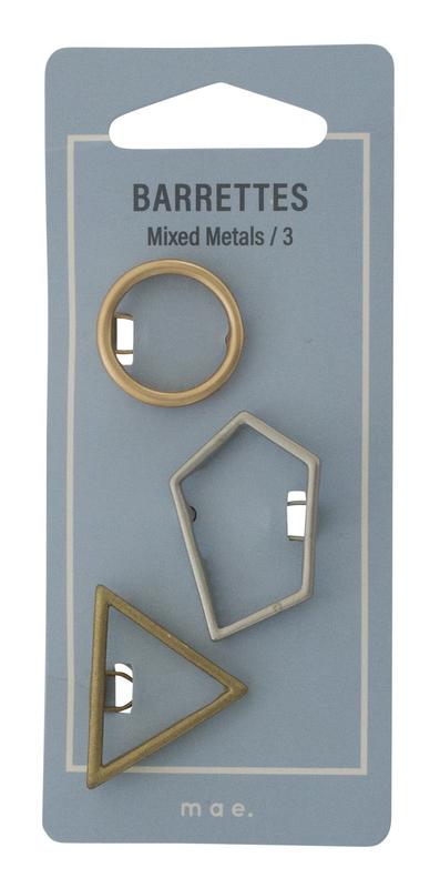 Mae: Barrette Mixed Metals (3)