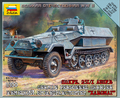 Zvezda 1/100 SD.KFZ. 251/I Ausf. B Half-track Armored Personnel Carrier