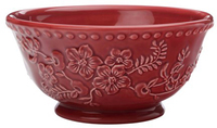 Maxwell & Williams Euphemia Henderson Footed Bowl 15.5cm Burgundy
