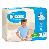 Huggies Ultra Dry Nappies Bulk - Walker Boy 13-18kg (32)