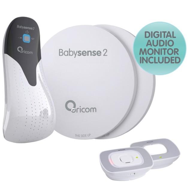 Oricom: Babysense2 Breathing and Secure55 Audio Monitor Pack
