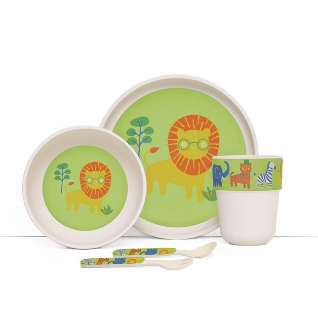Penny Scallan: Wild Thing Bamboo Meal Set with Cutlery