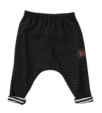 Bonds Double Jersey Pant - Black & White (6-12 Months)