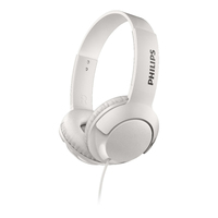 Philips On Ear Bass+ Headphones (White)