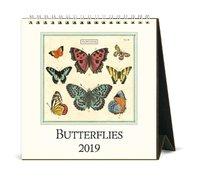 Vintage Butterflies 2019 Desk Calendar