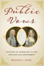 Public Vows by Melissa J. Ganz