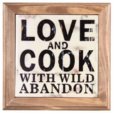 """Love and Cook with Wild Abandon"" Trivet (20cm)"