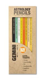 Whiskey River Co: Astrology Pencil - Gemini (8 Pack)