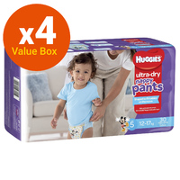 Huggies: Ultra Dry Nappy Pants Bulk Value Box - Size 5 Walker Boy (120)