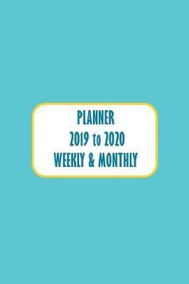 Academic Planner Appointment Book Pastel Blue by Here and Now