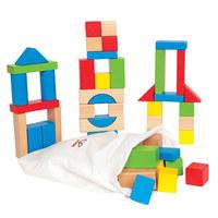 Hape Maple Wood Blocks (50pc Set)
