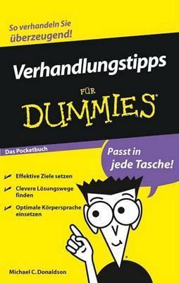 Verhandlungstipps Fur Dummies Das Pocketbuch by Michael C Donaldson