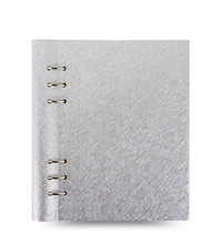 Filofax - A5 Saffiano Clipbook - Metallic Silver
