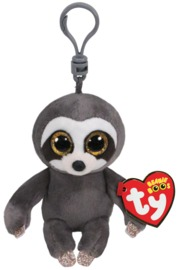 Ty Beanie Boo: Grey Sloth - Clip-on Plush