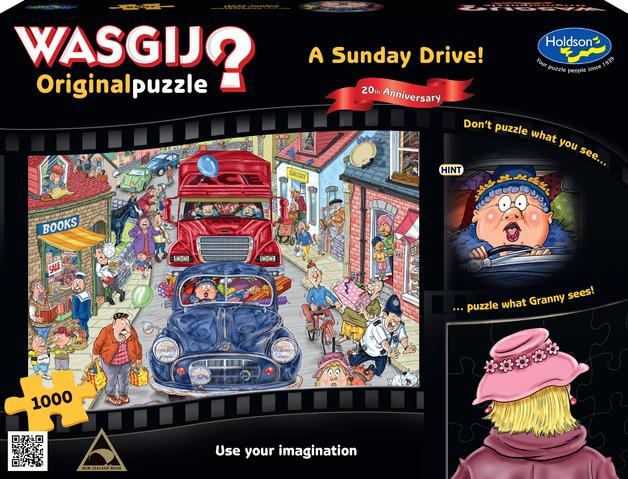 Wasgij: 1000 Piece Jigsaw - 20th Anniversary (A Sunday Drive)