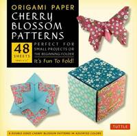 """Origami Paper Cherry Blossom Patterns Small 6 3/4"""" 48 Sheets: Perfect for Small Projects or the Beginning Folder"""